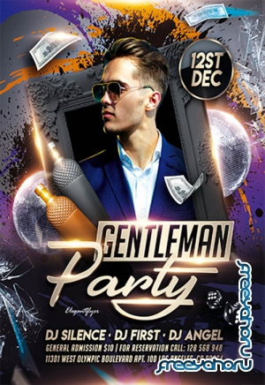 Gentleman party V2211 2019 Premium PSD Flyer Template