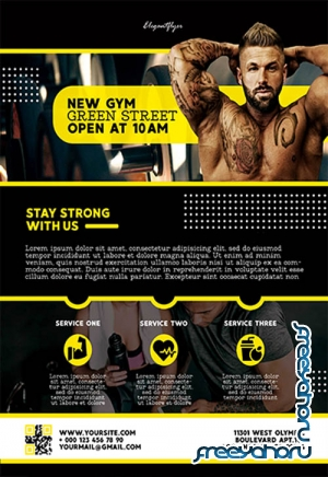 GYM V2211 2019 Premium PSD Flyer Template