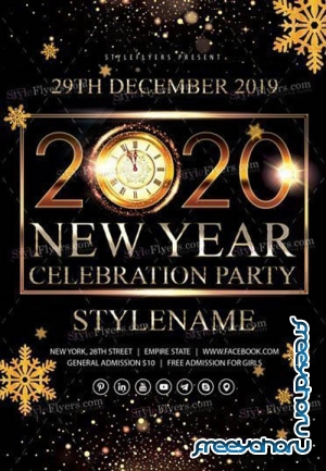 2020 New Year Celebration Party V2811 2019 PSD Flyer Template