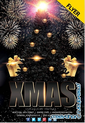 Xmas Party V0212 2019 PSD Flyer Template