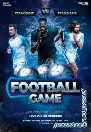 Football Game V0212 2019 PSD Flyer Template