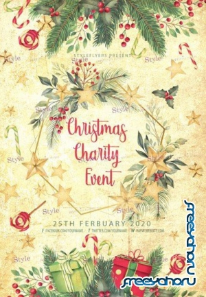 Сhristmas Сharity Event V1612 2019 PSD Flyer Template