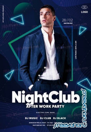 Night Club V1612 2019 PSD Flyer Template