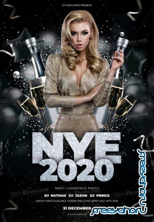 NYE 2020 V2912 2019 PSD Flyer Template