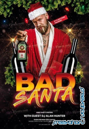 Bad Santa V2912 2019 PSD Flyer Template