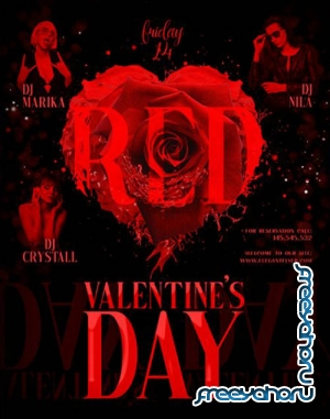 Red Valentines Day V1201 2020 Premium PSD Flyer Template