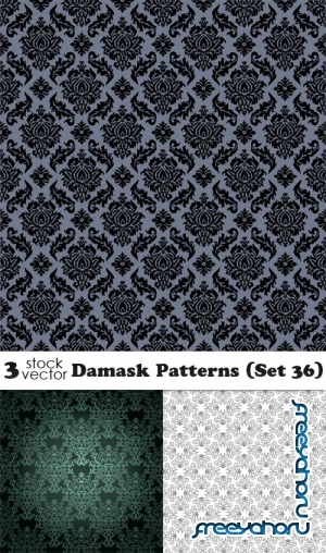 Vectors - Damask Patterns (Set 36)