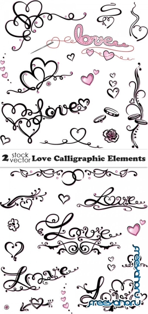 Vectors - Love Calligraphic Elements