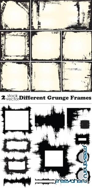 Vectors - Different Grunge Frames