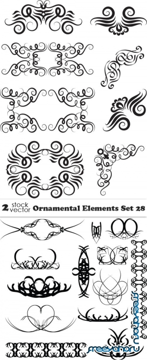 Vectors - Ornamental Elements Set 28