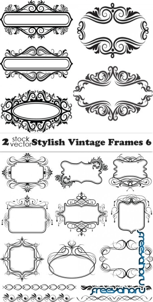 Vectors - Stylish Vintage Frames 6