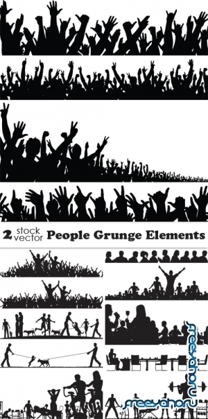 Vectors - People Grunge Elements