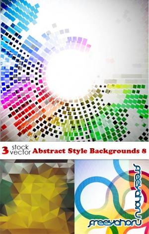 Vectors - Abstract Style Backgrounds 8