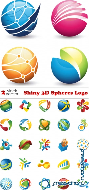 Vectors - Shiny 3D Spheres Logo