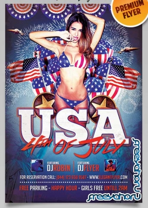 4th Of July USA Flyer PSD Template + Facebook Cover