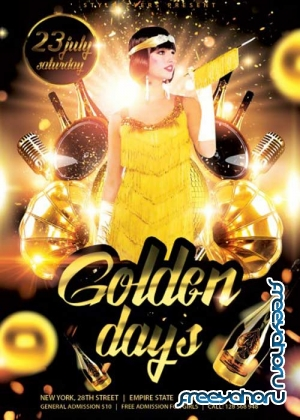 Golden Days V2 PSD Flyer Template