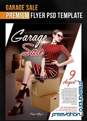 Garage Sale V1 Flyer PSD Template + Facebook Cover