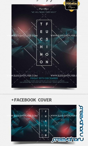 Techno Fusion V41 2018 PSD Flyer Template