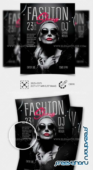 Fashion Show V77 2018 PSD Flyer Template