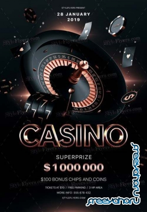 Casino V47 2018 PSD Flyer Template