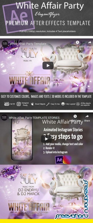White Affair Party V1 2019 Animated Flyer