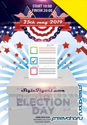 Election Day V1 2019 Flyer PSD Template