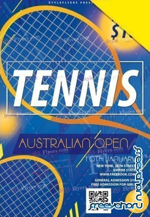 Tennis Australia Open V1 2019 PSD Flyer