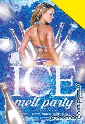 Ice Melt Party V1 2019 Flyer PSD