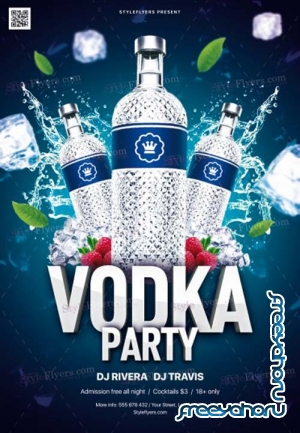 Vodka Party V1 2019 PSD Flyer Template