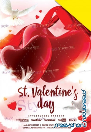 Valentines Day V19 2019 PSD Flyer Template