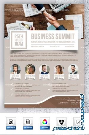 Business Summit V1 2019 PSD Flyer Template + Facebook Cover + Instagram Post