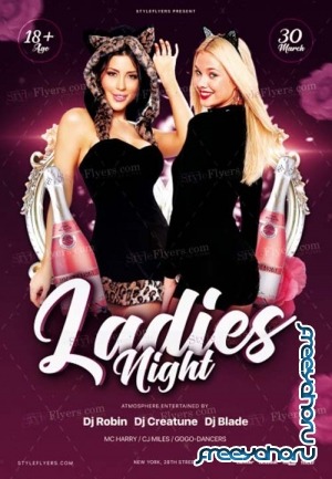 Ladies Night V2 2019 PSD Flyer Template