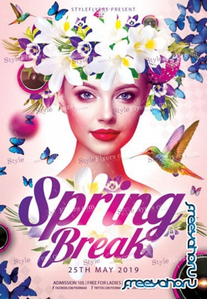 Spring Break V5 2019 PSD Flyer Template