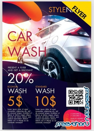 Car Wash V7 2019 PSD Flyer Template