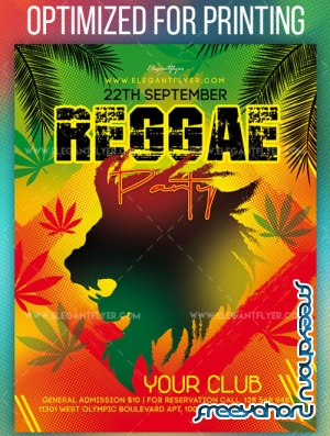 Reggae Party V2 2019 Flyer PSD Template