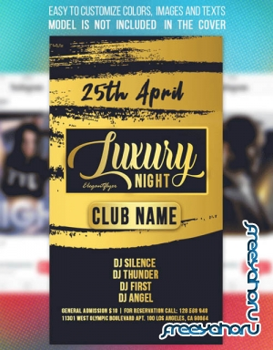 Luxury Night Club V1 2019 Animated Instagram Stories + Instagram Post + Facebook Cover