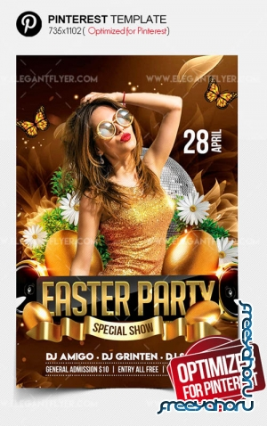 Easter Party V12 2019 Pinterest PSD Template