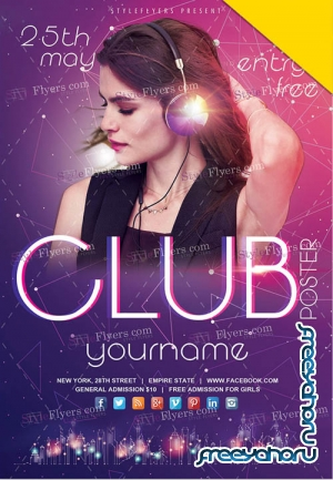 Club Flyer Poster V2 2019 PSD Flyer Template