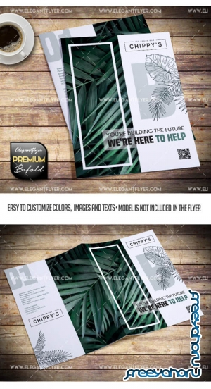Corporate V11 2019 Bi-Fold PSD Brochure Template