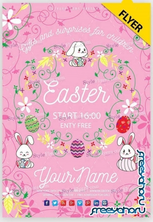 Easter Poster V20 2019 PSD Flyer Template