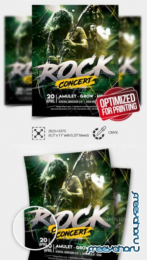 Rock Concert V7 2019 Flyer PSD Template