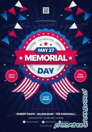 Memorial Day V9 2019 PSD Flyer Template