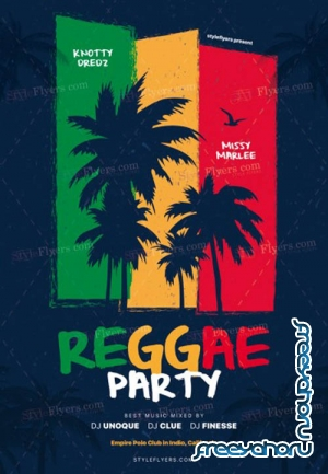 Reggae Party V5 2019 PSD Flyer Template