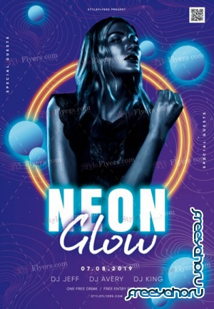 Neon Glow V5 2019 PSD Flyer Template