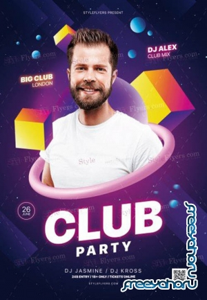 Club Party V14 2019 PSD Flyer Template