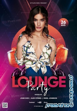 Lounge Party V1 2019 PSD Flyer Template