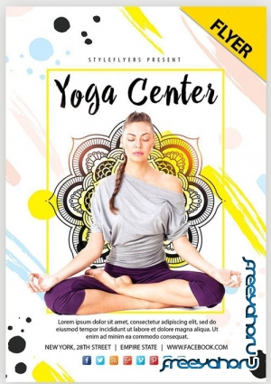Yoga Center V1 2019 Flyer PSD Template
