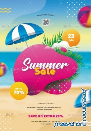 Summer Sale V6 2019 PSD Flyer Template