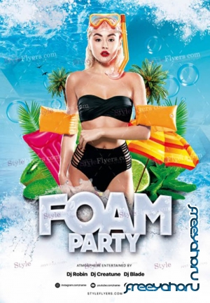 Foam Party V1 2019 PSD Flyer Template