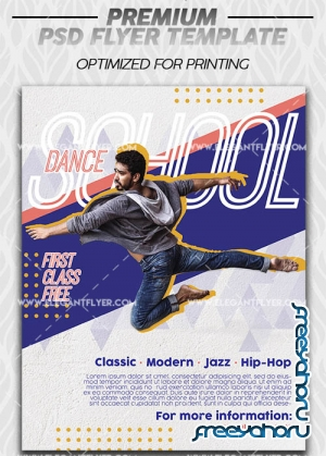 School of Contemporary Dance V1 2019 Premium Flyer Template in PSD
